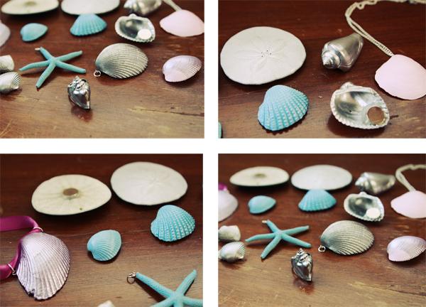 Diy: painted seashell jewelry