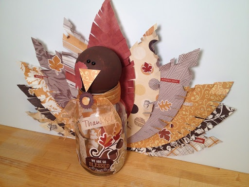 Thankful Turkey Mason Jar Craft