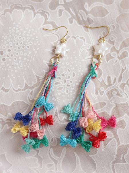 Knockoff craft tutorial:  etoile earrings by kamiori kaori