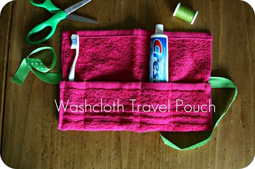 WhiMSy love DIY Washcloth Travel Pouch