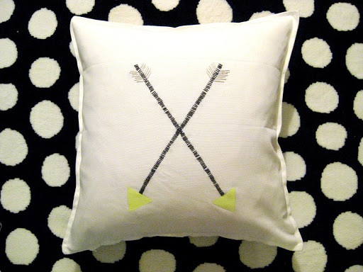Crossed Arrow Pillow By Emily