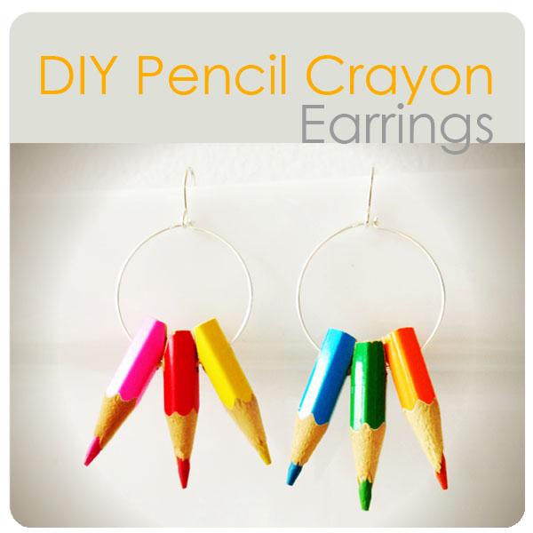 Pencil crayon earrings