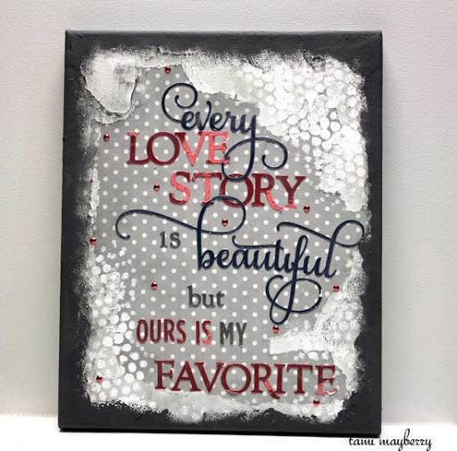 Love Story Mixed Media Canvas Create It Simply with Tami Mayberry