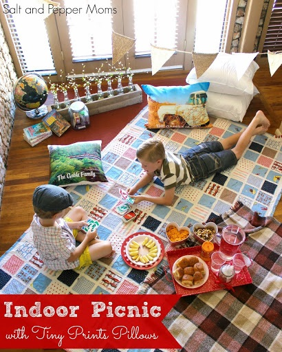 Indoor Picnic with Tiny Prints Pillows