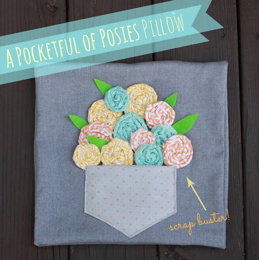A Pocketful of Posies Pillow