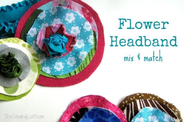 Elastic Headband with Flower