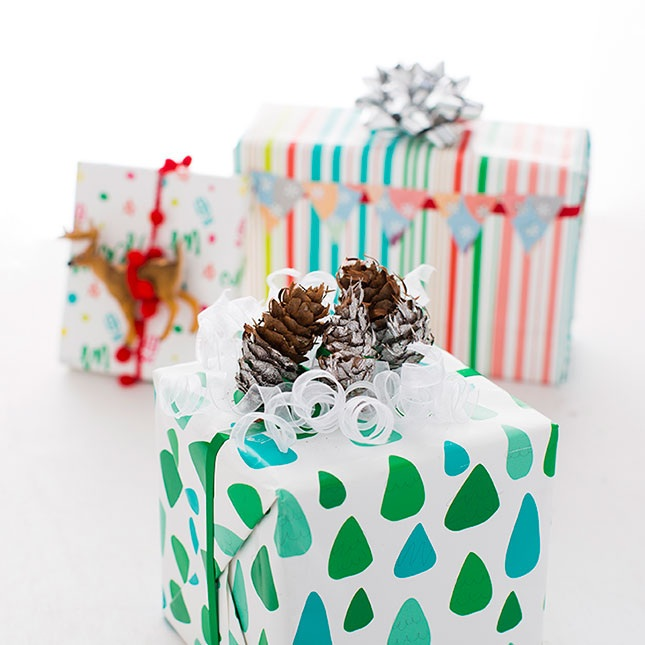 Upcycle Last Year's Holiday Decor to Make Gift Toppers