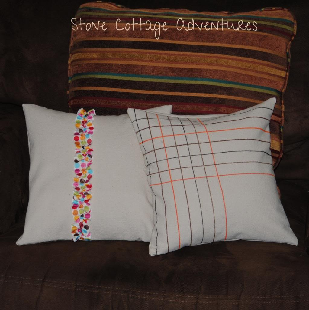 Pillows from Drop Cloths