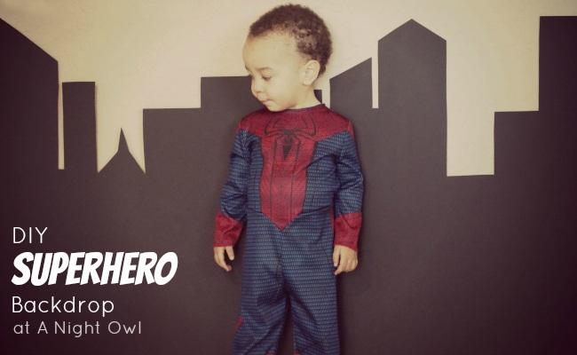 DIY Superhero Backdrop