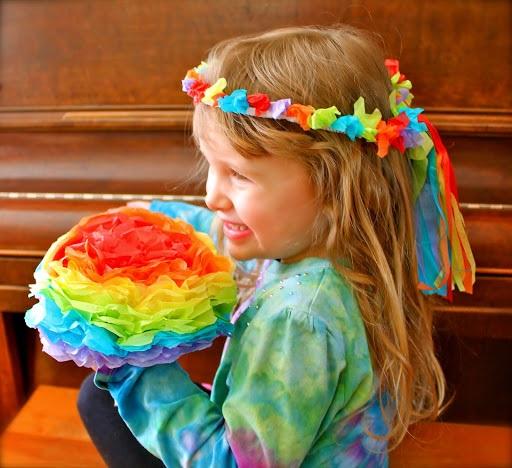 Rainbow Wreath & Flowers