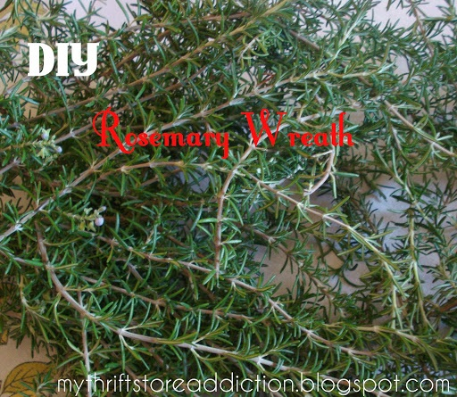 The Ninth Day of Christmas Fresh Rosemary Wreath