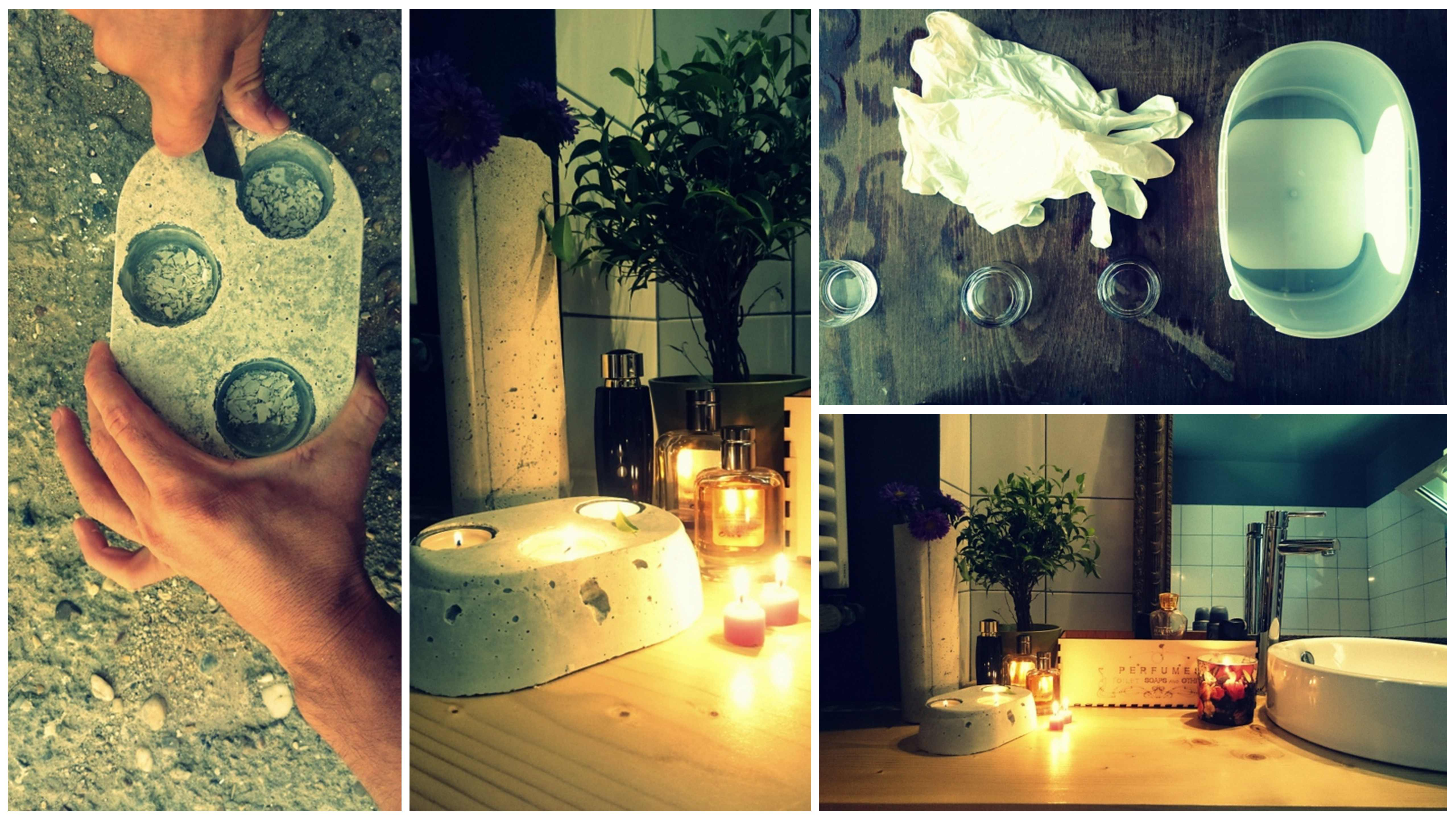 DIY Project Series 7 Step Tutorial DIY Concrete Candle Holder