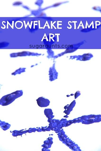 Winter Snowflake Stamp Art