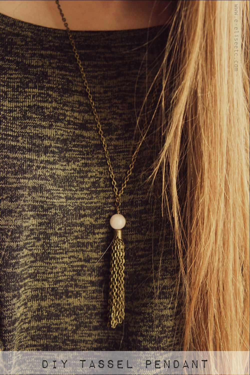 DIY Chain Tassel Pendant