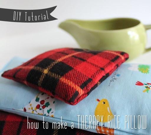 DIY Tutorial Therapy Rice Pillow