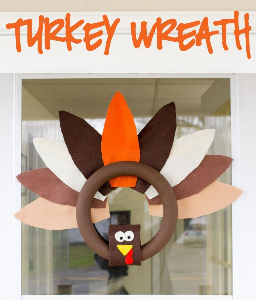 An Oh So Adorable Turkey Wreath
