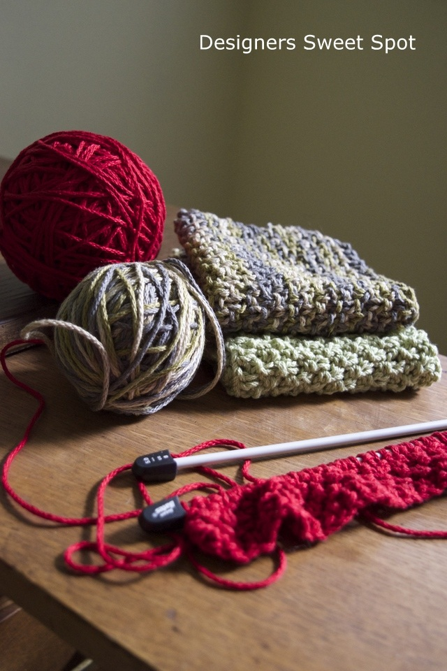 DIY Knitted Dish Towels