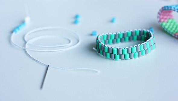 DIY hama bead bracelet