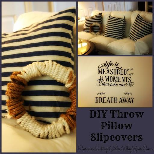DIY Throw Pillow Slipcovers