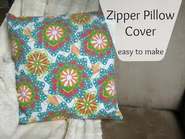 Easy Zipper Pillow Cover