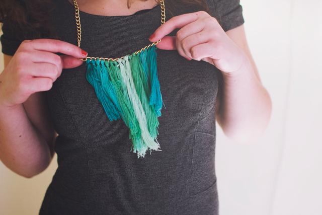 D.i.y. tassel necklace