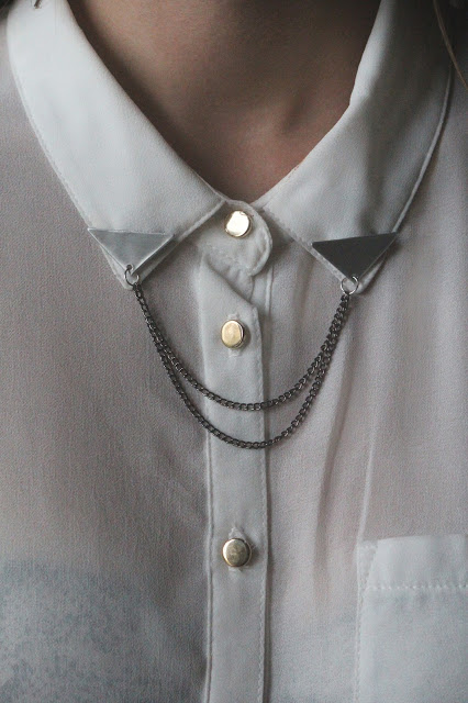 Inspire me: DIY triangle collar chain