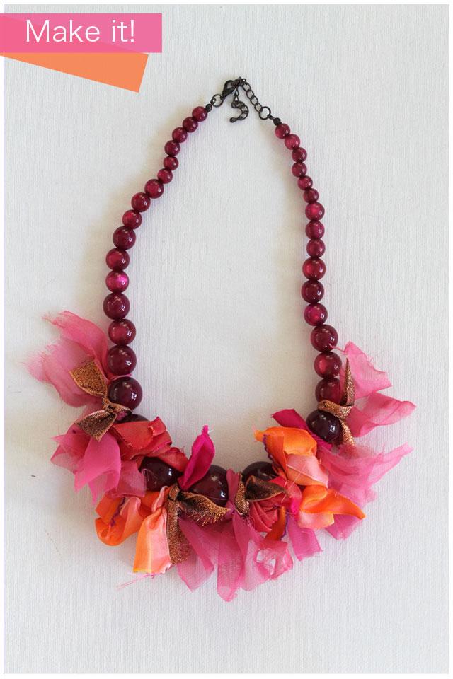 DIY - ribbon tie necklace