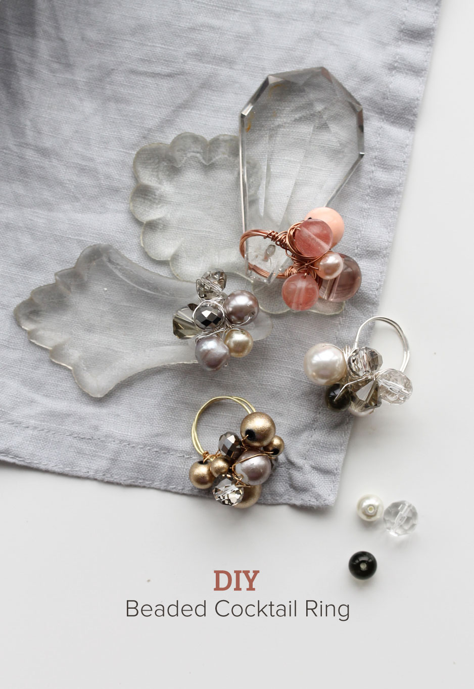 DIY : beaded wire cocktail ring
