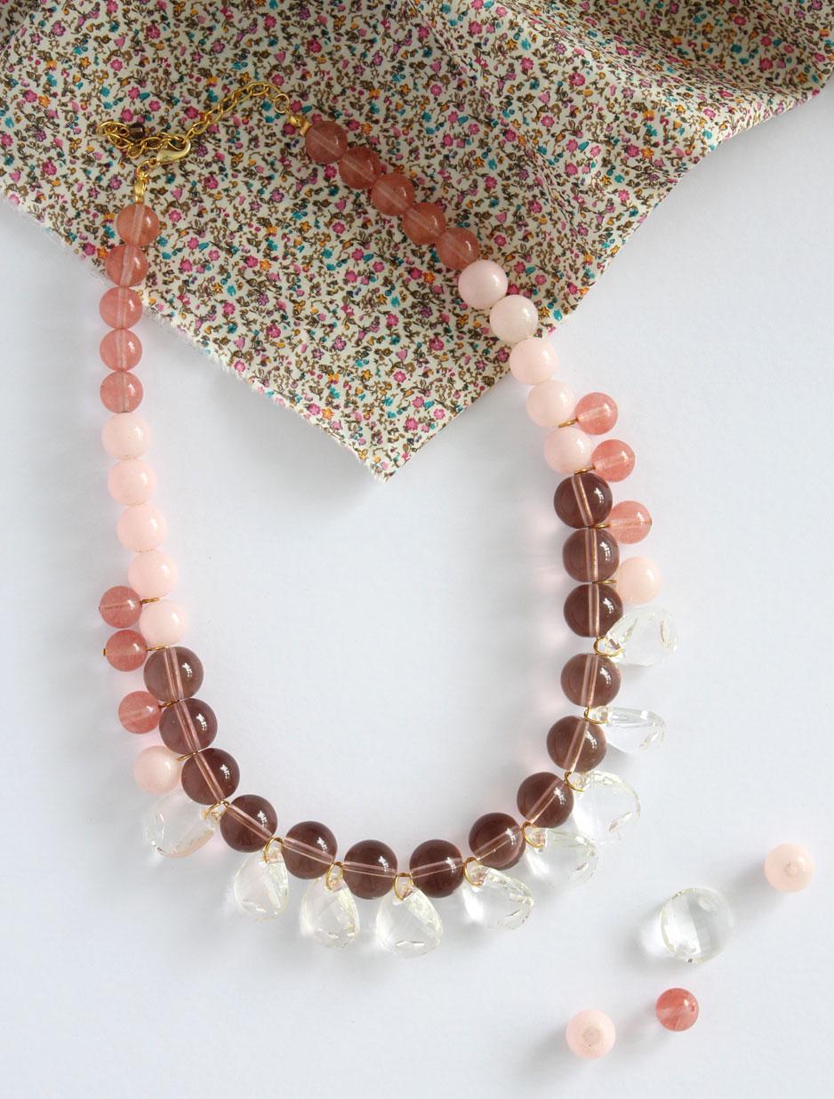 DIY  _ crystal statement necklace