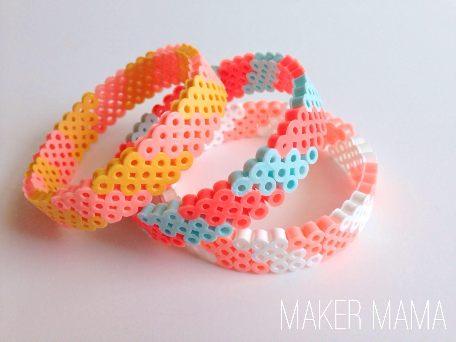 Maker mama craft blog: perler bead bracelet