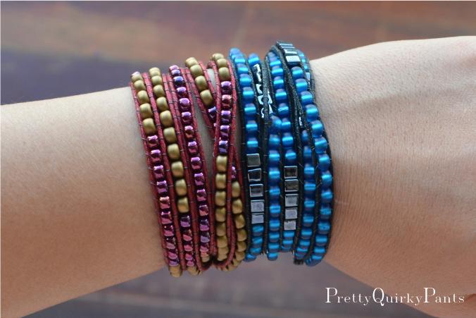 DIY bead wrap bracelet