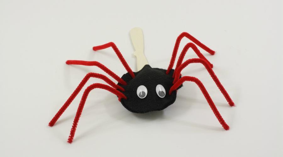 4 Non Scary Stick Puppet Spider Tutorials