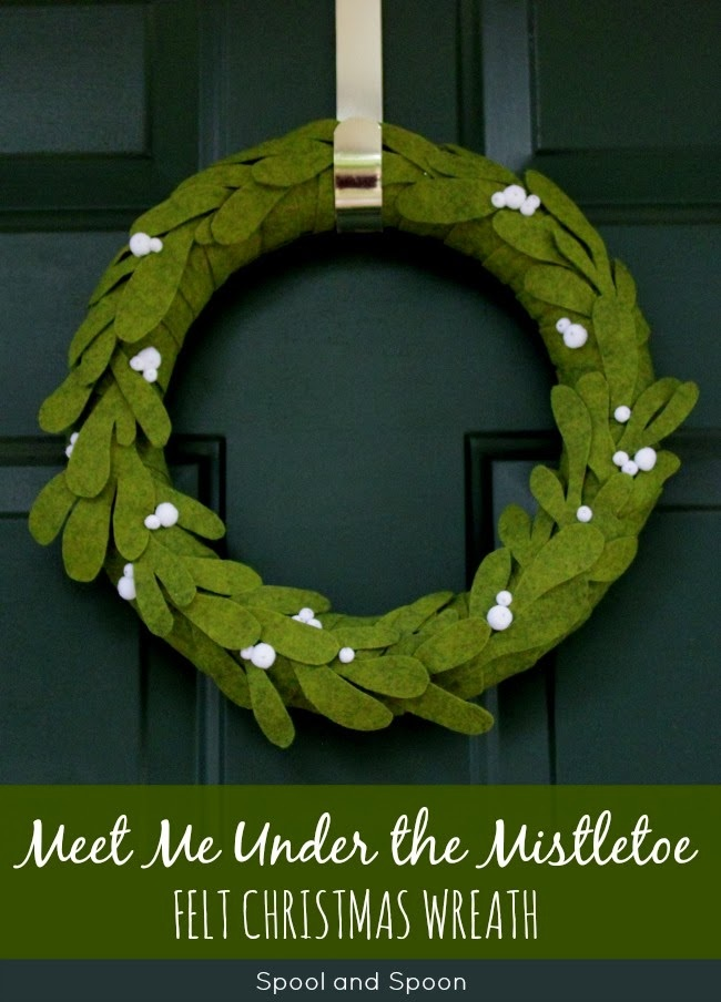 Meet Me Under the Mistletoe Felt Christmas Wreath