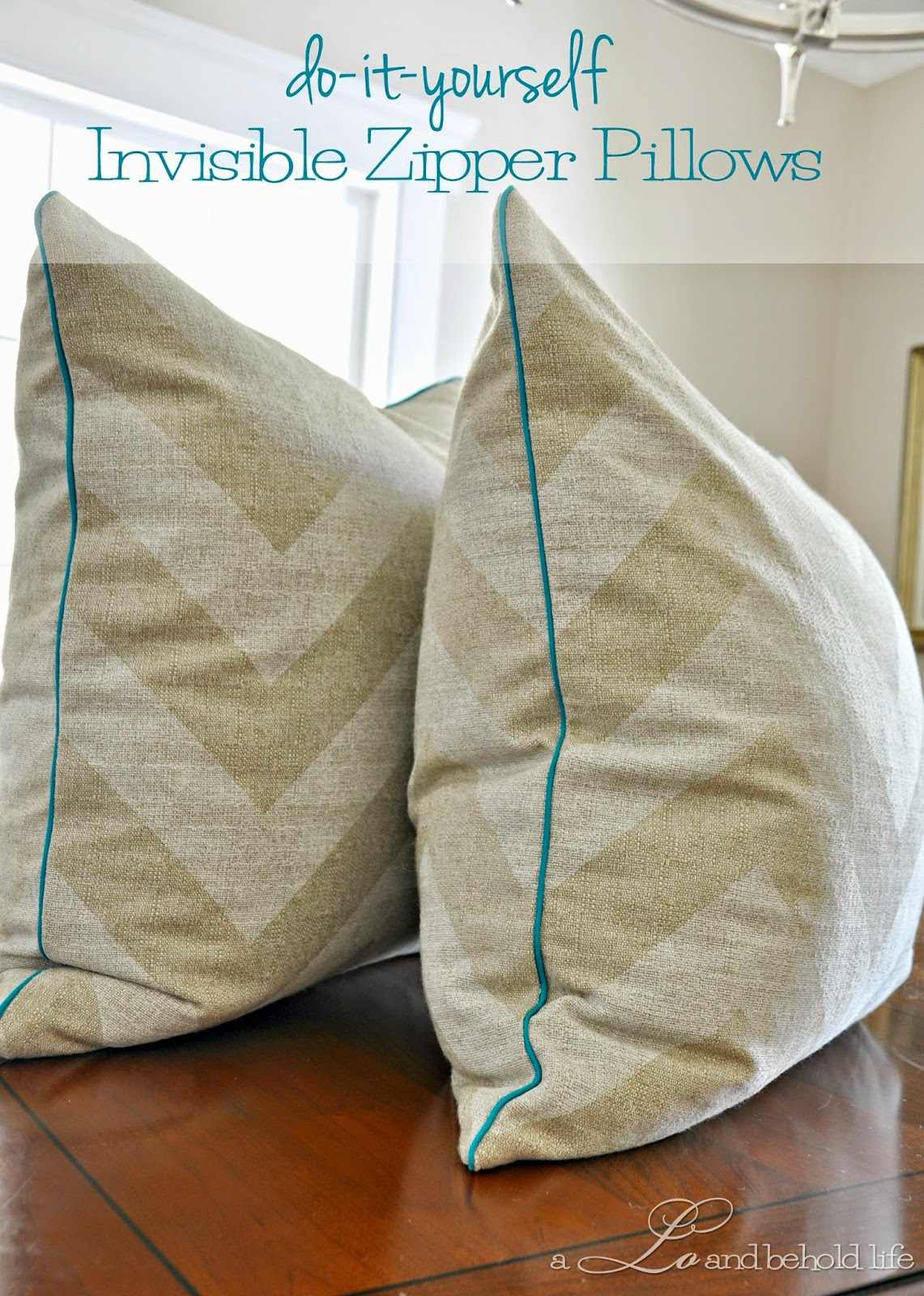 Sewing Throw Pillow With Zipper And Piping : DIY pillow cover with piping and zipper - CraftSmile