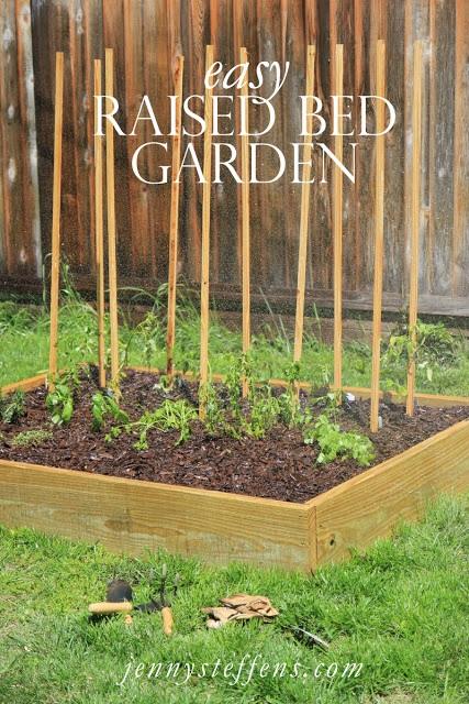Jenny Steffens Hobick My $75 Backyard Garden DIY Raised Bed Garden Box
