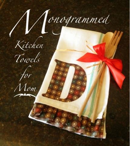 Monogrammed Kitchen Towels for Mom