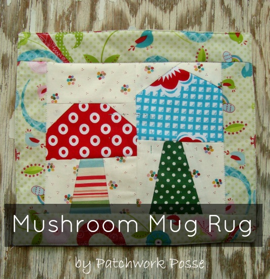 Wooden Iron Mushroom Mug Rug Pattern National Sewing Month