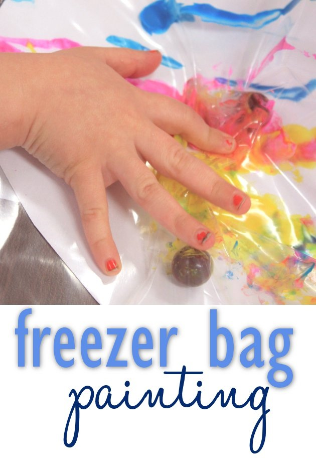 Easy Kids Art with Freezer Bags