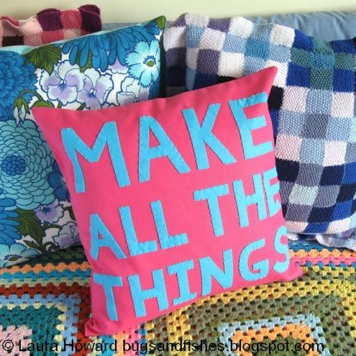 Make All The Things! Felt Cushion Pillow Tutorial
