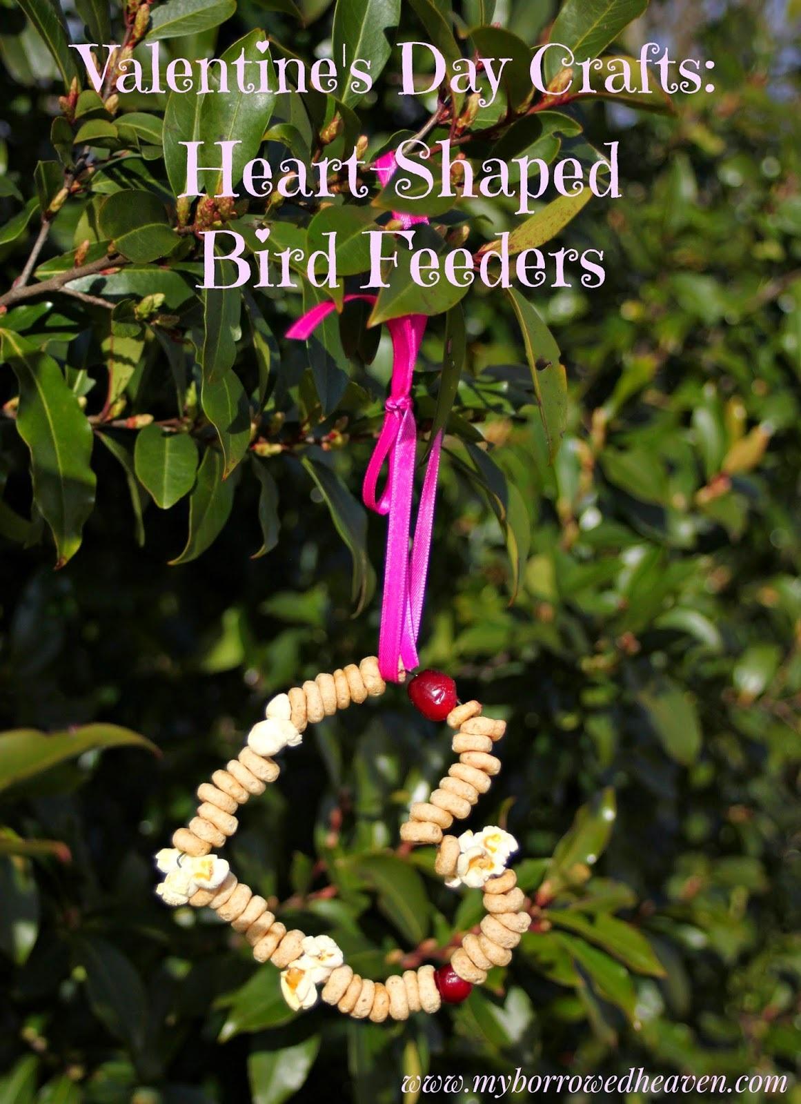 Valentine's Day Craft Heart Shaped Bird Feeders