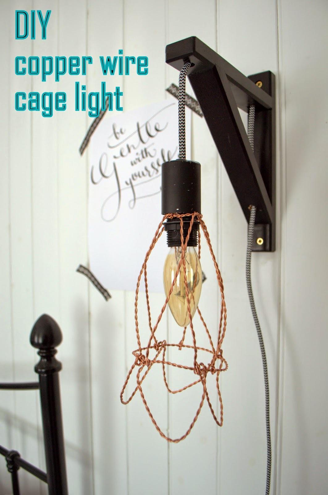 Diy wire cage light tutorial