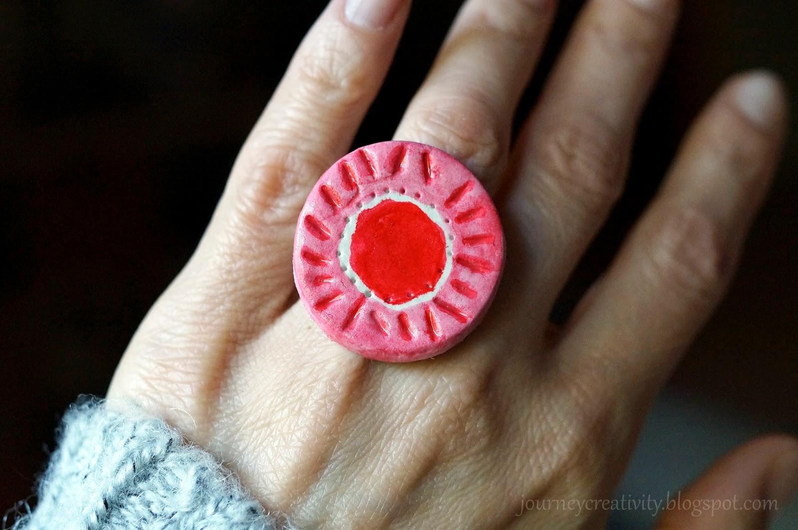Air dry clay circle ring