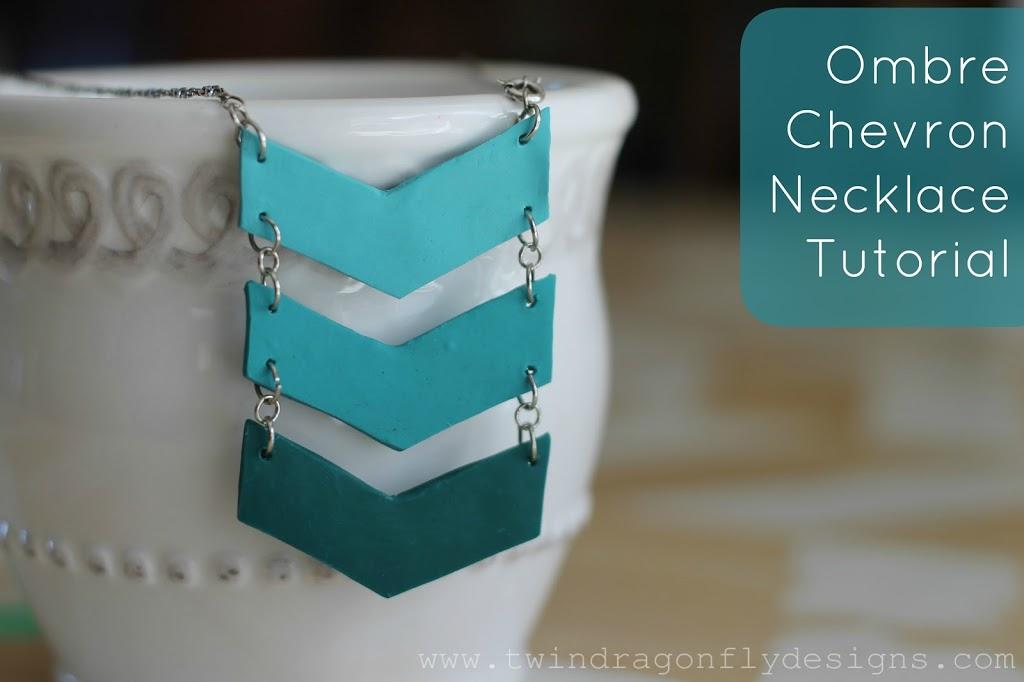 Ombre chevron necklace tutorial