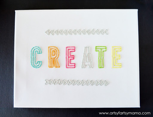 DIY Embroidered Canvas