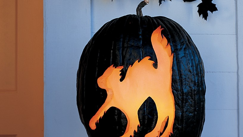 How to Carve a Haunting, Glowing Cat Pumpkin