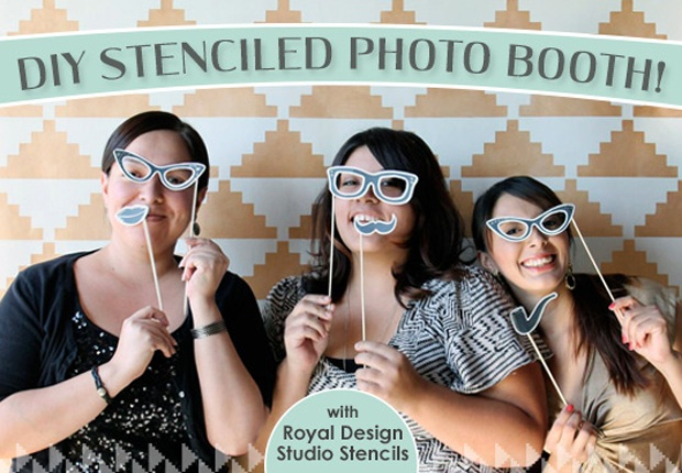 Stencil How To Wedding Photo Booth Backdrop Paint + Pattern