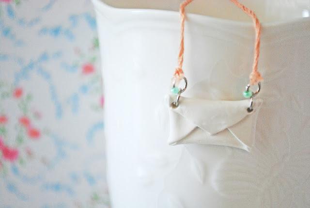 Stellaire: DIY clay envelope necklace