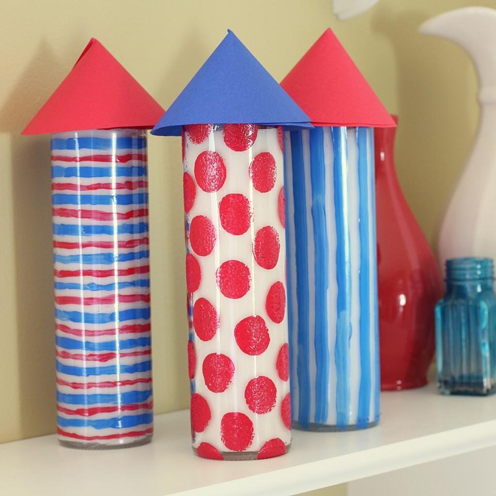 Patriotic Firecracker Inspired Candles ~ Madigan Made