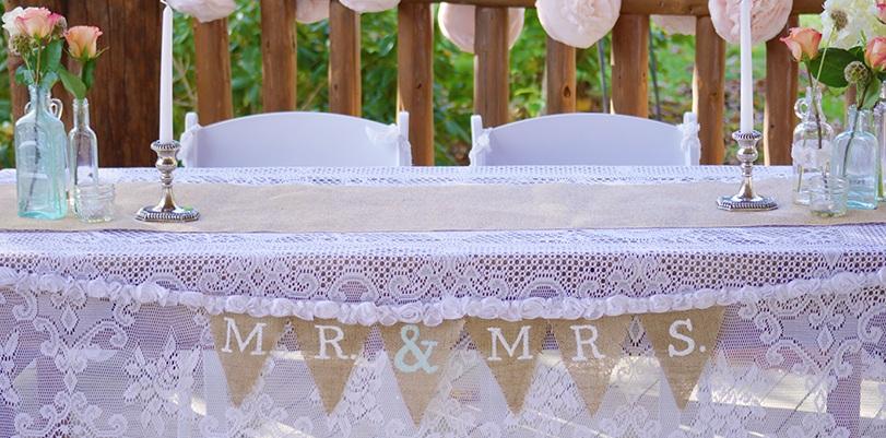DIY Burlap Wedding Bunting