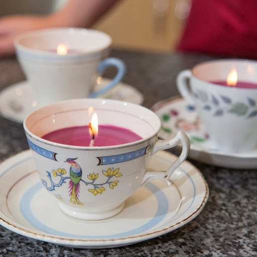 How to make vintage teacup candle gift